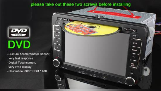 volkswagen doppel din 2 din navi gps dvd player dvb t ebay. Black Bedroom Furniture Sets. Home Design Ideas