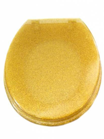 Designer Toilet Seat Gold Glitter EBay